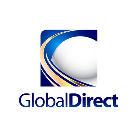 Technology Global direct square sphere logo concept design template idea Banco de Imagens - 143647058