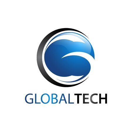 Global Tech Circle Letter G logo concept design idea Banco de Imagens - 143647067