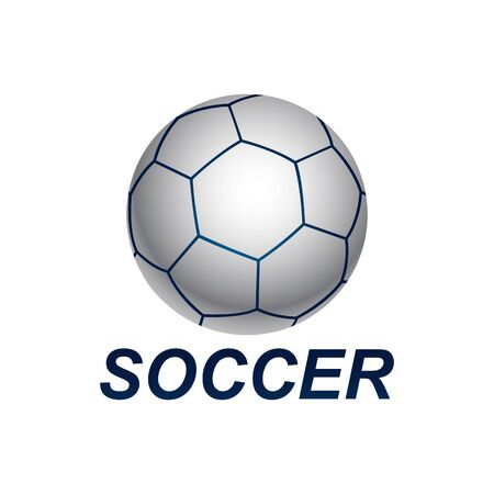 Shiny sphere soccer ball logo concept design template idea