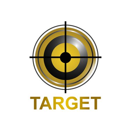 illustration target icon symbol logo concept design template idea Banco de Imagens - 143647073