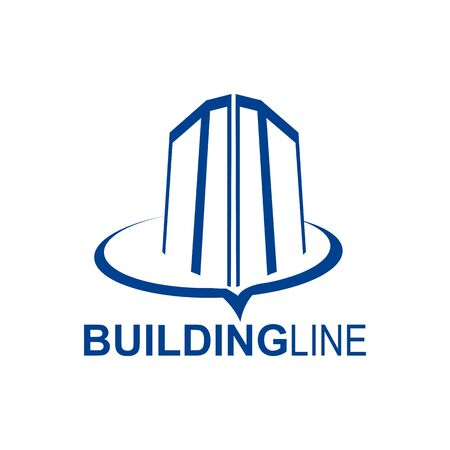 Building line logo concept design template idea for real estate bussines Banco de Imagens - 143647075