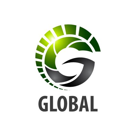 Global initial letter G logo concept design template idea