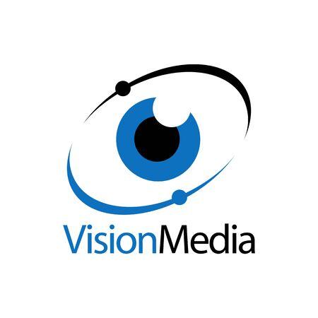 Eye icon vision media logo concept design template idea  イラスト・ベクター素材