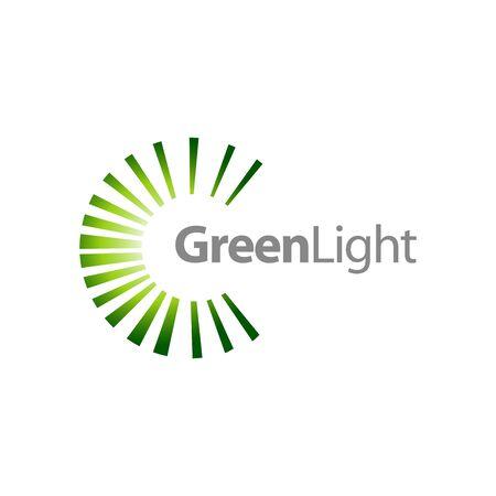 Rotate splash green light logo concept design template idea