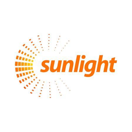 Rotate splash orange sunlight logo concept design template idea