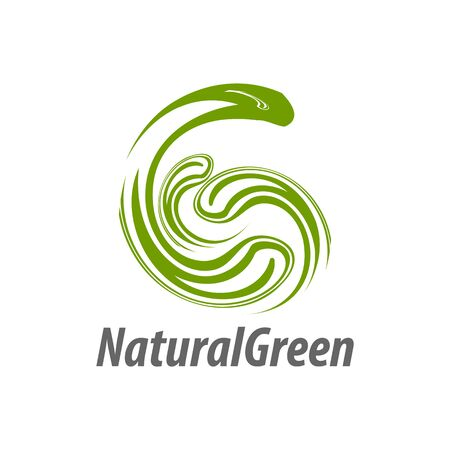 Natural Green abstract illustration initial letter G logo concept design template idea