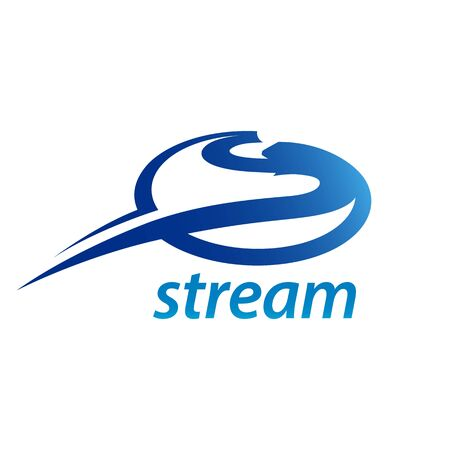 Stream circle initial letter S logo concept design template idea