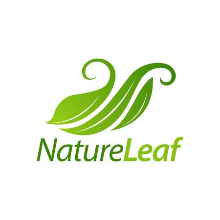 Green nature leaf logo icon concept design template idea