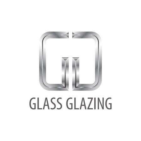 Glass glazing. Shiny grey initial letter GG logo concept design template idea