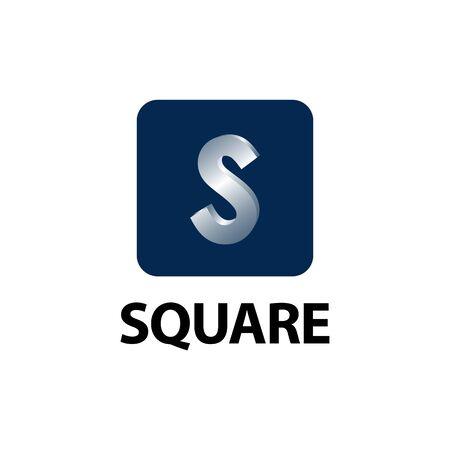 Square. Shiny initial letter S logo concept design template idea  イラスト・ベクター素材