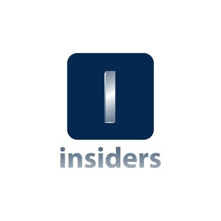 Insiders. Square Initial letter i logo concept design template idea  イラスト・ベクター素材