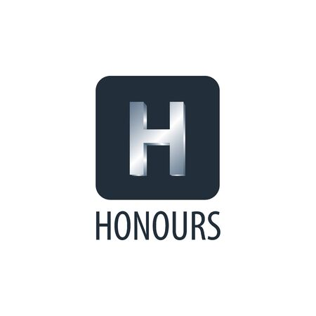 Honours. Square initial letter H logo concept design template idea