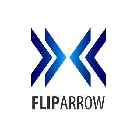 Flip arrow logo concept design. Symbol graphic template element vector