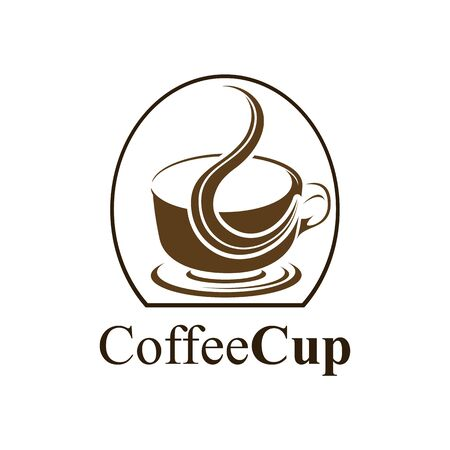 Coffee cup logo concept design. Symbol graphic template element vector  イラスト・ベクター素材
