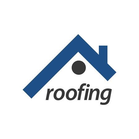 Roofing logo concept design. Symbol graphic template element vector