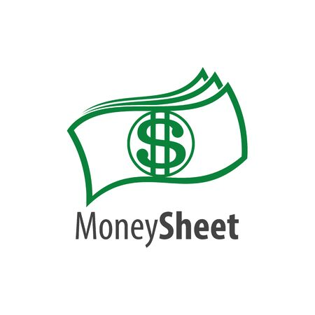 Money sheet logo concept design. Symbol graphic template element vector