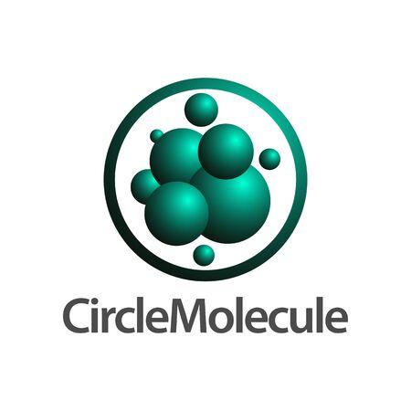 Circle molecule logo concept design. Symbol graphic template element vector