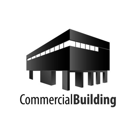 Commercial building logo concept design. Symbol graphic template element vector
