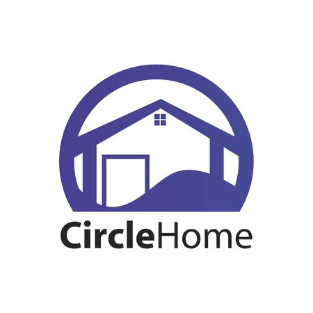 Circle home logo concept design. Symbol graphic template element vector