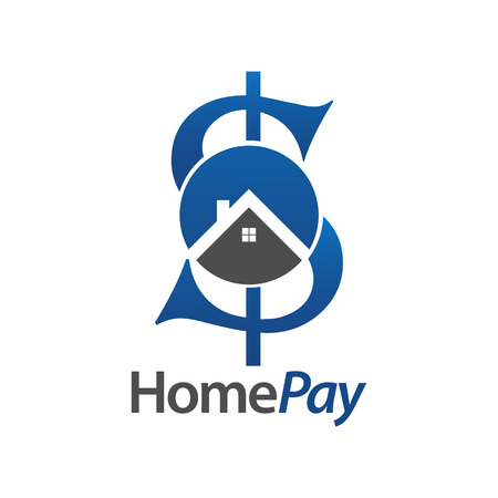 Home pay initial letter S money logo concept design. Symbol graphic template element vector