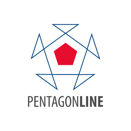 Pentagon line logo concept design. Symbol graphic template element vector