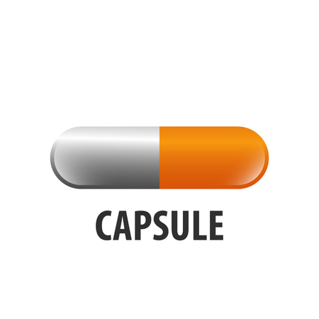Capsule loading logo concept design. Symbol graphic template element