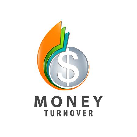 Money turnover colorful logo concept design. Symbol graphic template element vector