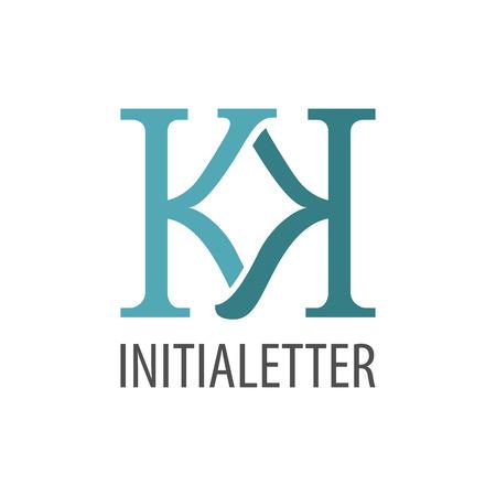 Initial letter KK logo concept design. Symbol graphic template element vector Logó
