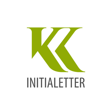 Initial letter KK green logo concept design. Symbol graphic template element vector