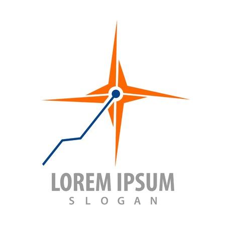 Laser Spark logo concept design. Symbol graphic template element
