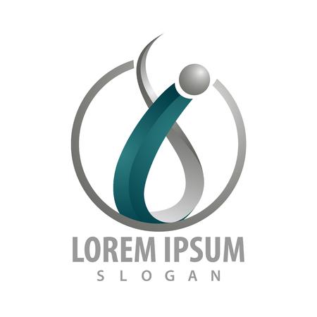 Initial letter i medical logo concept design. Symbol graphic template element Logo