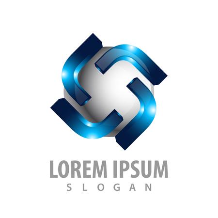 Rotate initial letter L logo concept design. Symbol graphic template element