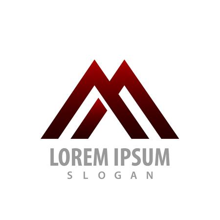 logo concept design. Geometric line. Initial letter AA or M. Symbol graphic template element Logo