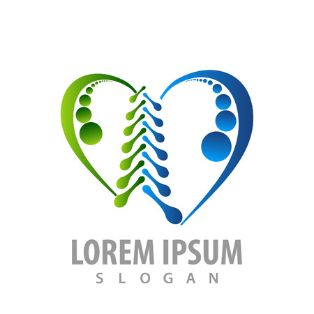 abstract orthopaedic love logo concept design. Symbol graphic template element Logo