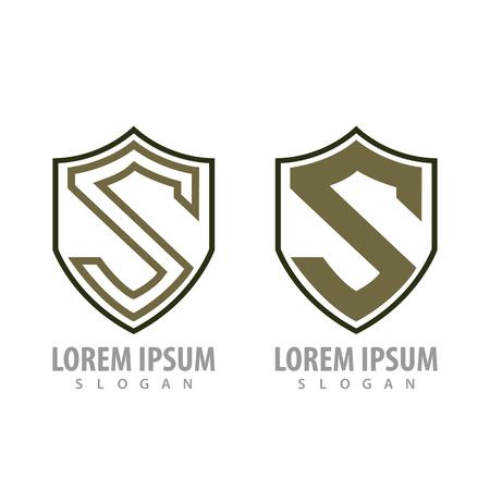 Shield letter S set concept design. Symbol graphic template element Banque d'images - 119206032