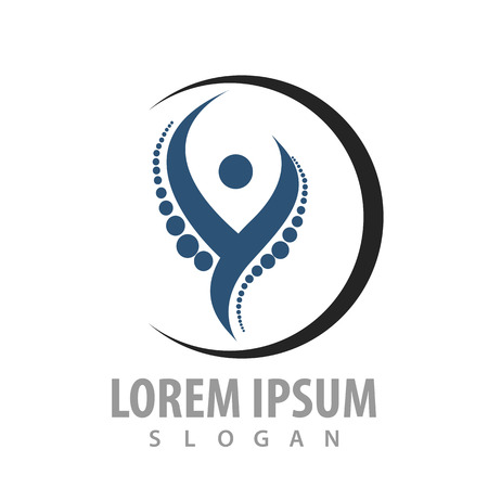 Circle orthopedics human concept design. Symbol graphic template element