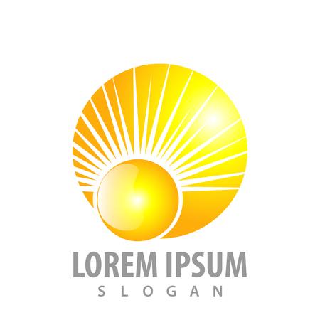 Shiny sunlight concept design. Symbol graphic template element Banque d'images - 119357029