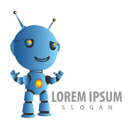Technology robot in 3D style concept design. Symbol graphic template element Banque d'images - 119357031