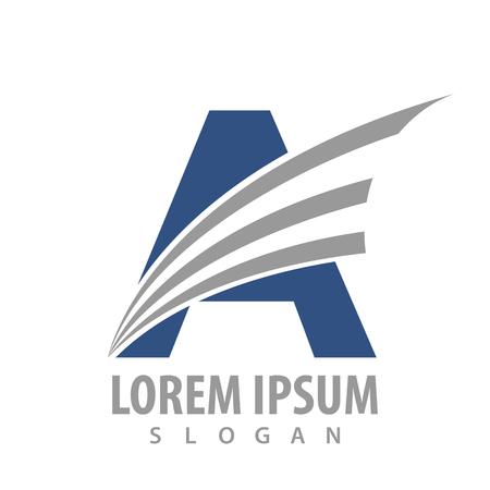 Initial letter A with spark line logo concept design. Symbol graphic template element Banque d'images - 119357052