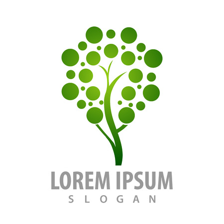 Dot leaf tree concept design. Symbol graphic template element Banque d'images - 119357064