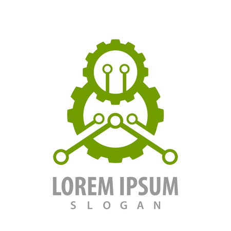 Green industrial gear concept design. Symbol graphic template element Banque d'images - 119433191