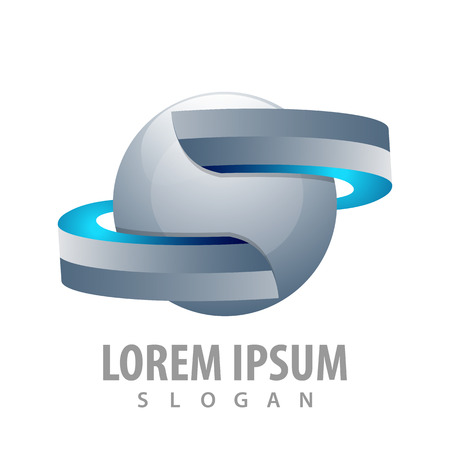 Sphere ribbon in 3D style concept design. Symbol graphic template element Banque d'images - 119812231