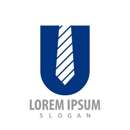 Initial letter U Tie concept design. Symbol graphic template element Banque d'images - 119812249