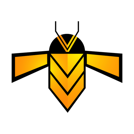 Geometric bee line concept design. Symbol graphic template element