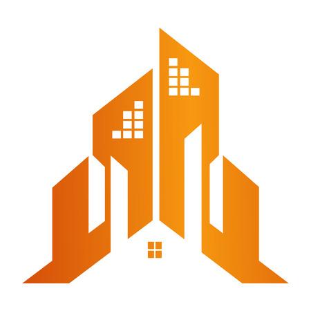 Building town construction concept design. Symbol graphic template element