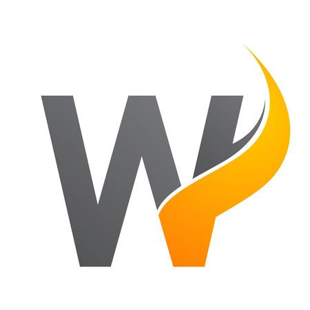 Initial letter W sunlight concept design. Symbol graphic template element Banque d'images - 120484512
