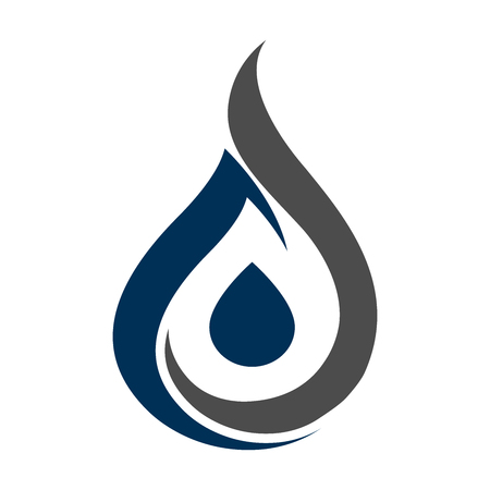 Water drop silhouette concept design. Symbol graphic template element