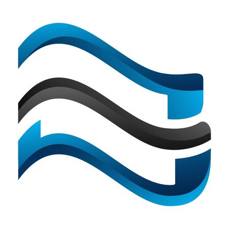 Geometric wave line concept design. Symbol graphic template element Banque d'images - 120484517