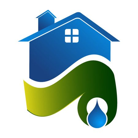 Water sources home concept design. Symbol graphic template element
