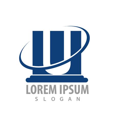 Pillar letter U concept design. Symbol graphic template element Çizim